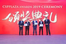 Craig Wood, CEO Vast Solar (centre), with fellow Award recipients at CSPPLAZA, China, July 2019